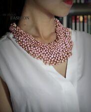 Collier Femme Court Mini Perle ROSE Original Style Ancien Mariage Cadeau JD 1