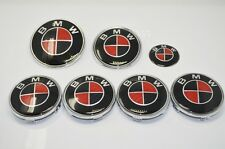 COMPLETE CARBON BADGE & WHEEL CENTRE CAPS SET fits: BMW 1 3 5 7 Z3 Z4 X3 SERIES
