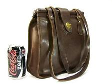 Vintage COACH US Made Glove Leather Hard Top Brown Business Tote Bag Style 9021