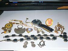 LOT BIJOUX de CRÉATEUR  collier broche bague montre pendentif boucle d'oreille