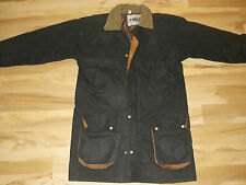 """Used Long Waxed Green """"Rain Coat"""" Made in England Size Large (Free Shipping)"""