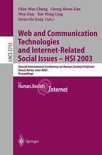 Web Communication Technologies and Internet-Related Social Issues - HSI 2003: Se