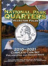 National Parks Deluxe Quarter Folder Album 2010-2021 Philadelphia Denver Whitman