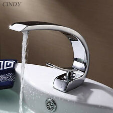 Bathroom Sink Faucet Chrome One Hole/Handle Cold/Hot Tap Discount Mixer Taps