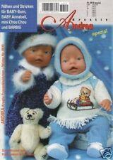 ANDREA # 0519 Nähen Stricken für Baby-Born, Annabell, mini Chou Chou und Barbie