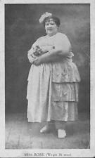 Old Photo.  Circus Sideshow Freak Fat Lady - Miss Rosie