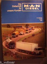 ✪5 alte original Zeitschriften MAN DIESEL von 1979,1981,1982,1974,  Sammlung