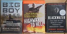 Soldiers Fortune Mercenary Guns  For Hire Blackwater Private Armies 3 book lot