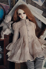 Temperament Vintage Beige Dress for BJD Girl 1/4 1/3 1/2 Spirit Doll Clothes CW2