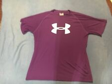 Under Armour Men's NWOT Purple & White Short Sleeve Shirt.  Size Large.