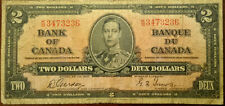 Bank of Canada 1937 $2 Dollar Bank Note Two Dollar Bill
