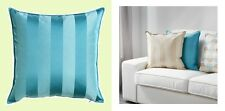 "IKEA Henrika Pillow Cushion COVER NEW 20""Tonal Stripe Turquoise Blue""RawSilk""NIP"
