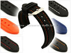 Mens Silicon Rubber Waterproof Divers Watch Strap Band 20mm 22mm Panor - MM