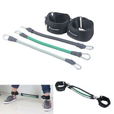 3X LEG THIGH FITNESS RESISTANCE BAND WORKOUT EXERCISE TUBE THICKENED ANKLE STRAP