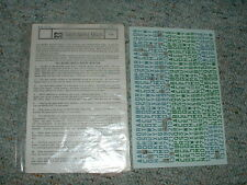 Microscale decals 1/72 72-30 Luftwaffe id lett numb 42m blue green D18
