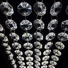 33FT Chandelier Clear Glass Crystal Lamp Hanging Drop Pendant Bead Wedding Decor