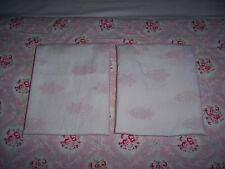 2 Rachel Ashwell Shabby Chic Couture Chandelier Crest KING Pillowcases