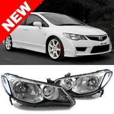 06-11 HONDA CIVIC 4DR SEDAN HELIX/DEPO JDM CONVERSION HEADLIGHTS - BLACK/CHROME
