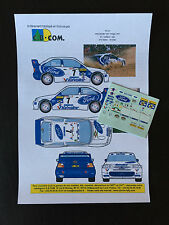 DECALS 1/43 FORD ESCORT WRC COSWORTH KANKKUNEN RALLYE PORTUGAL 1998 RALLY