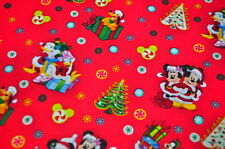 DISNEY MICKEY MOUSE USA tissu design NOËL MINNIE MOUSE Noël