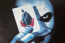 JOKER 28x16 pittura ad olio BATMAN CAVALIERE OSCURO minifig GOTHAM GOTHAM telaio disponibili