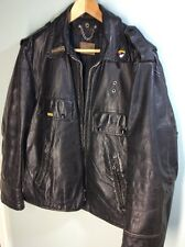 Vintage steerhide Police Motorcycle Jacket size 40 Honda Goldwing patches