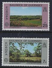 1977 GUERNSEY EUROPA: COUNTRYSIDE SET OF 2 FINE MINT MNH/MUH