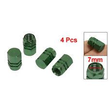 4 x Bouchon de valve du pneu de voiture solide en alliage vert  WT