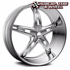 "VELOCITY VW930 CHROME 24""X9.5 CUSTOM WHEELS RIMS (SET OF 4) FREE US SHIP"