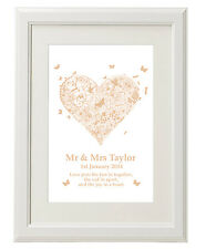 Unique Unusual Personalised print / Wedding 1st Anniversary gifts ideas present