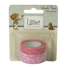 WASHI TAPE x 2 - 8 MTRS EA - 10mm & 15mm  - PINKS