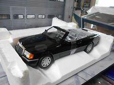 MERCEDES BENZ W124 E Klasse CE-24 Cabriolet Cabrio black 1990 Norev HQ  NEU 1:18