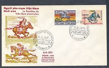 Vietnam 1971 Postal Couriers on Horseback cachet unaddressed first day cover