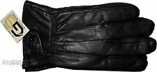 Men's Leather Gloves, Size Large. Winter gloves, lined warm Black leather gloves