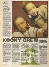 29/4/89Pgn46 Article & Picture 'kooky Crew' The Finest Female Rappers The Cookie