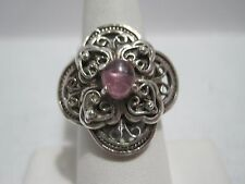 Artisan Crafted Sterling Limited Edition 0.60ct Pink Tourmaline Ring  Size 6