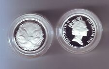 1991 SILVER Proof 5 Cent Echidna Ant Eater Australia ex Masterpieces in Set *