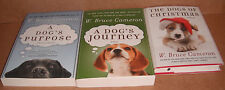 Lot of 3 Books by W. Bruce Cameron A Dog's Purpose/A Dog's Journey/Dogs of C NEW