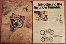 1974 Yamaha Trials Motorcycle TY250 TY80 Original Color Magazine Ad