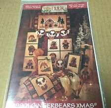 GINGERBEARS  CHRISTMAS House Quilt Garland Pictures Ornaments Pattern Bears