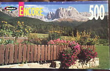 "RoseArt Encore 500 piece puzzle ""Fence Garden"" 10 3/4 x 18 Inches Brand New unop"
