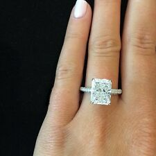1.80 Ct. Natural Radiant Cut Micro Pave Diamond Engagement Ring - GIA Certified