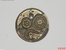 steampunk brooch badge small bronze clock mechanical workings larp cosplay watch