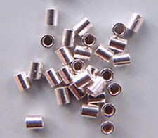 Crimps 2mm x 2mm Beads Silver-Plated 41001 (400) Tube Spacers