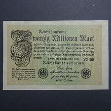 - WOW Banknote : 20 Millionen Mark (nicht im Rosenberg) OHNE  Kn !  - UNIKAT ? -