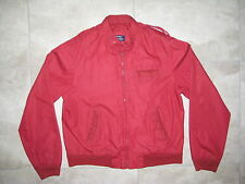 Vintage Red SATURDAY GENERATION (Like Members Only) Bomber Pilot MED Jacket USED
