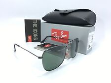 Ray Ban RB3136 004 Caravan Gun Metal Frame/Crystal Green 58mm Sunglasses