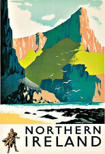 Art Ad Northern Ireland  Travel Deco  Poster Print