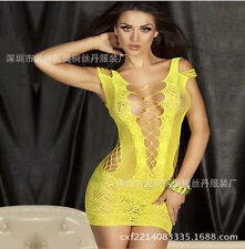 Women Sexy Fishnet Body Stocking Lingerie Nets Clothing sexy club Dress M DR025
