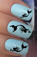 WATER NAIL TRANSFERS MERMAID UNDER SEA SILHOUETTE SHADOW DECALS STICKERS *350